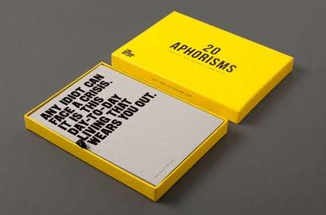 Amusingly Awkward Aphorism Cards - The School of Life Released a Set of 20 Funny Aphorisms For Sale