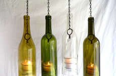 Upcycled Wine Bottle Decor