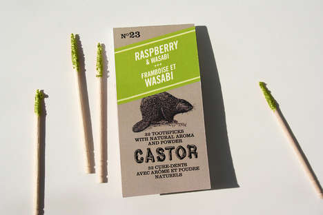 Dipped Dual Flavored Toothpicks - Castor Toothpicks Come in Unusual Combos Like Kumquat & Beet