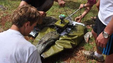 Autonomous Crocodile-Shaped Boats - These Crocodile-Shaped Boats are Used to Study Hippopotamus Poop