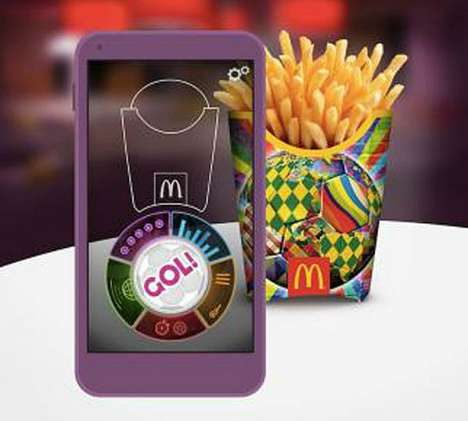 World Cup Fry Packaging - McDonald's World Cup App Turns the Iconic Fry Packaging into a Soccer Game