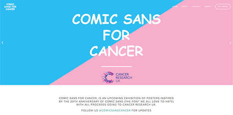 Fundraising Font Projects - Chris Flack is Turning Comic Sans Hate Into Money for Cancer Research