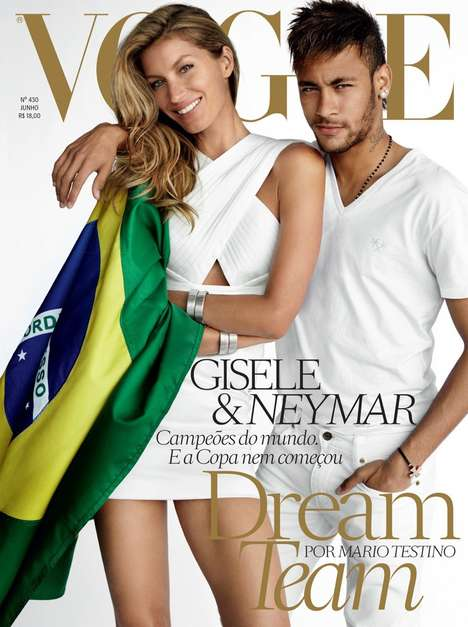 Brazilian Pride Covers - The Vogue Brazil June 2014 Cover Shoot Creates Buzz for the World Cup