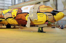 Vibrant Graffiti Planes - This Plane Design Will Transport Brazil's Players During the World Cup