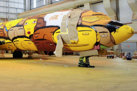 Vibrant Graffiti Planes - This Plane Design Will Transport Brazil