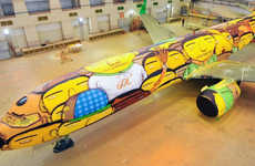 Graffiti Soccer Airlines - This Graffiti Jet Will Be Flying Team Brazil to the World Cup