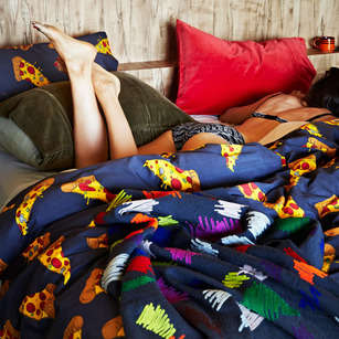 Vivid Fast Food Bedding - Kip & Co.'s Vibrant Bed Linens Feature Pizza and Sprinkle Motifs