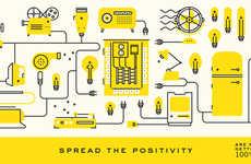 Cheerful Sustainable Branding - Positive Energy's Memorable Visual Branding is Vibrant