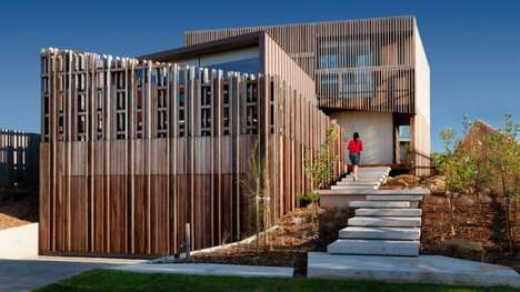 Woven Timber Abodes - John Wardle Architects Builds the Queenscliff Residence