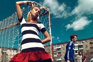 Lys Inger Stars in a Football-Themed Stolnick June 2014 Editorial