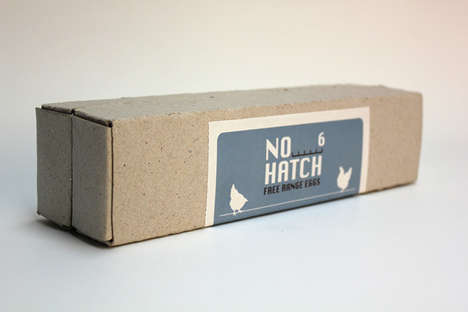 Elementary Egg Packaging - No Hatch Eggs Uses the Basics for Wrapping its Products