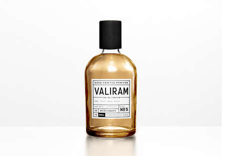 Chemist Perfume Packaging - Valiram Perfume Uses a Scientific Branding Aesthetic