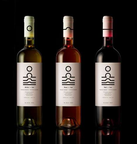 Solar Phase Wine Packaging - Sun Wines by Mousegraphics Turns to Nature for Inspiration