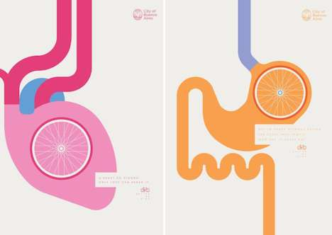 Biological Biking Posters - The 'Better by Bike' Posters Encourage You to Ride to Work