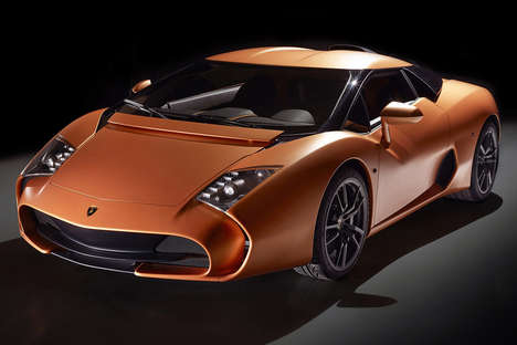 Curvy Continental Vehicles - The Lamborghini 5-95 Zagato Collaboration is Sleek and Modern