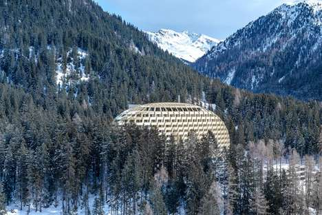 Sci-Fi Pod Structures - The InterContinental Davos Hotel by Oikios Features Geometric Details