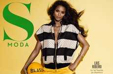 Soccer-Celebrating Editorials - Lais Ribeiro is Ready for World Cup in S Moda 'Brasil' Photoshoot