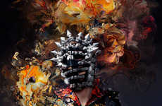 Painterly Couture Portraits - The Tommaso De Benedictis Elle Man Vietnam Editorial is Avant-Garde