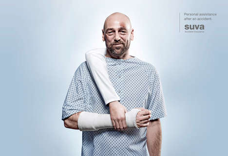 Extra Arm Ads - The Suva Accident Insurance Campaign Lends a Helping Hand