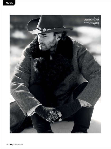 Rugged Rancher Photography - GQ Brazil's Nature Za Selvagem Editorial is Cowboy-Inspired