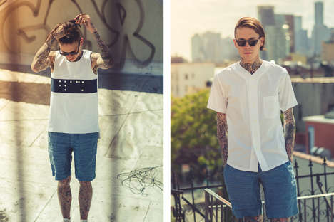 Tattooed Hipster Lookbooks - The Bee Line Features Street Wear for Summer