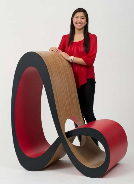 Sculptural Looping Seats - Infinite by Jenny Trieu is Modeled After the Lemniscate Symbol
