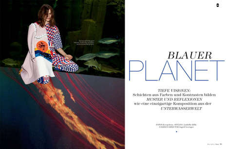 Aquarium-Set Editorials - The Flair Germany May 2014 Photoshoot Stars Model Emma Oak