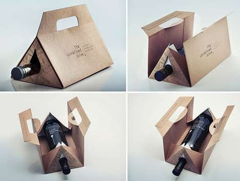 Tented Olive Oil Packaging - The Unrefined Olive's Olive Oil Package is Practical and Eco-Friendly