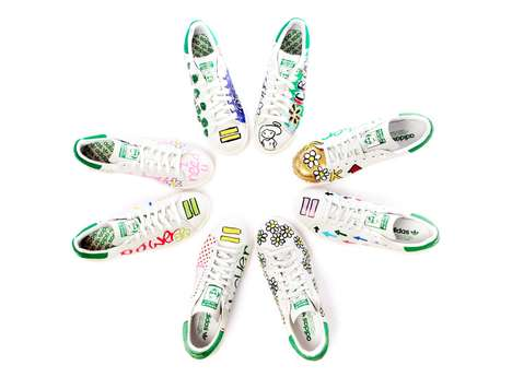 Hand-Painted Sneakers - The Pharrell Williams x Stan Smith Collection is Adorably Lighthearted