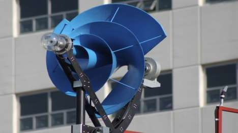Bizarre Wind Turbines - The Liam F1 Urban Wind Turbine Has an Unconventional Screw-Like Shape