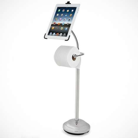 Restroom Reading Devices - This Hammacher Schlemmer iPad Bathroom Caddy Lets You Read on the Can