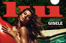 Steamy Supermodel Covers - Gisele Bündchen Covers Lui Magazine's Issue