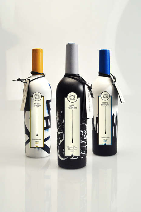 Expressionist Vino Branding - This Wine Packaging Concept Design is Urban and Creative