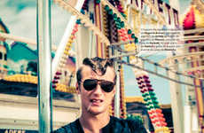 Retro Carnival Editorials - The Big Black Book Snatch Image Series Captures Eccentric Menswear