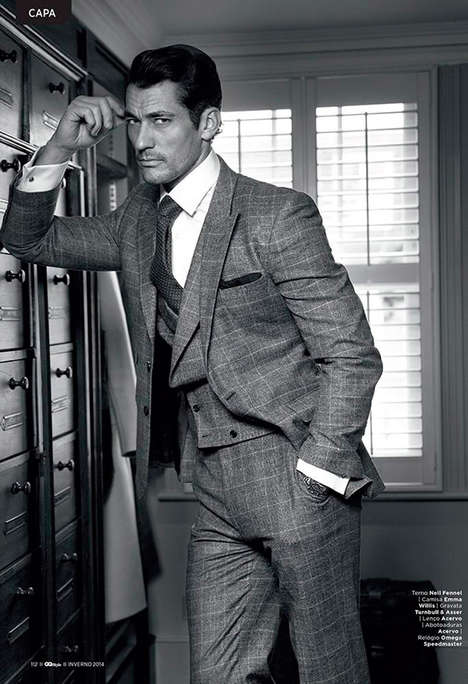 Debonair Gentleman Editorials - David Gandy Stars in this Elegant Feature for GQ Style Brazil