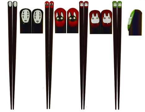 Animation Cinema Chopsticks - These Japanese Chopsticks From Studio Ghibli Feature Characters