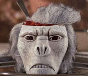 Creepy Primate Decor - This Monkey Head Bowl is Inspired by Indiana Jones, The Temple of Doom