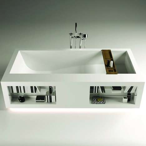 Luxuriously Literary Bathtubs - The Comfort Tank Bathtub Offers a Luxurious Place to Relax