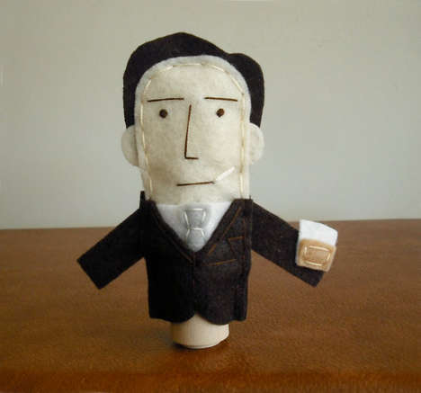 Pop Culture Puppets - These Don Draper Finger Puppets Make Great Gifts for Mad Men Superfans
