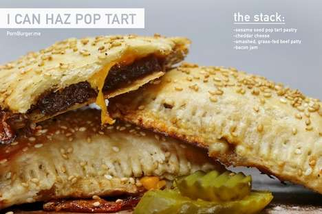 Hamburger Tarts - This DIY Pop Tart Involves a Meaty Patty and Cheese