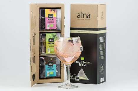 Boozy Tea Infuser Packaging - Alma Teas&Herbal; Infusions