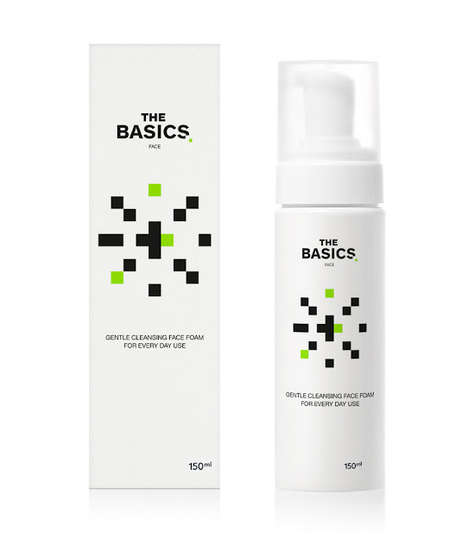 Pixelated Skincare Packaging - 'The Basics' Takes Inspiration from the Space Invader Video Game