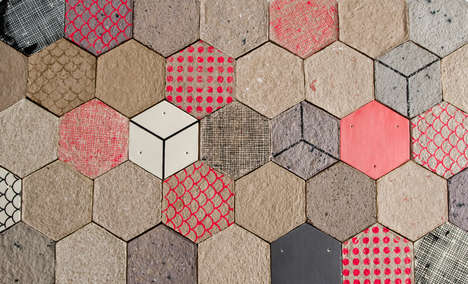 Paper Pulp Tiles - Wallpapering by Dear Human Can be Printed and Painted like Paper