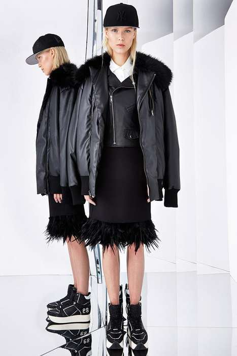 Fantasy Sport Fashion - The DKNY Resort 2015 Collection is Full of Fringe, Feathers and Fur