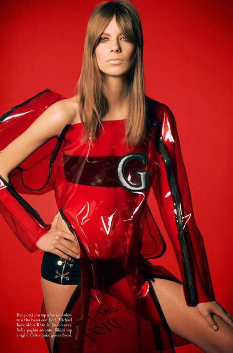 Prim Plastic Editorials - The Vogue Italia Lexi Boling May 2014 Photoshoot is Pliant
