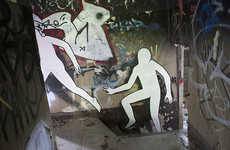 Storytelling Street Art - Escape from Wuhlheide by Daan Botlek Depicts Daring White Silhouettes