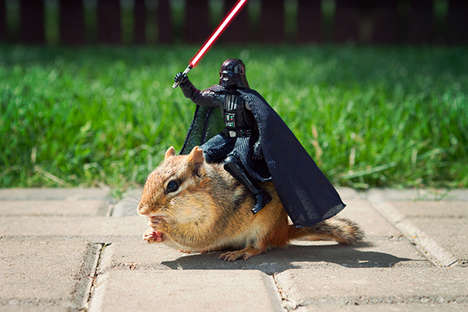 Galactic Chipmunk Photography - Artist Chris McVeigh Shoots Chipmunks with Star Wars Figurines