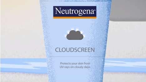 Educational Sunscreen Packaging - Neutrogena Cloudscreen Teaches UV Rays not Sun Rays are Harmful