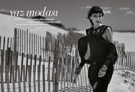 Dark Dystopian Editorials - The Harper's Bazaar Turkey June 2014 Issue Stars Jacquelyn Jablonski