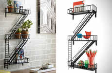 The Fire Escape Shelving is the Perfect Gift for New Apartment Owners